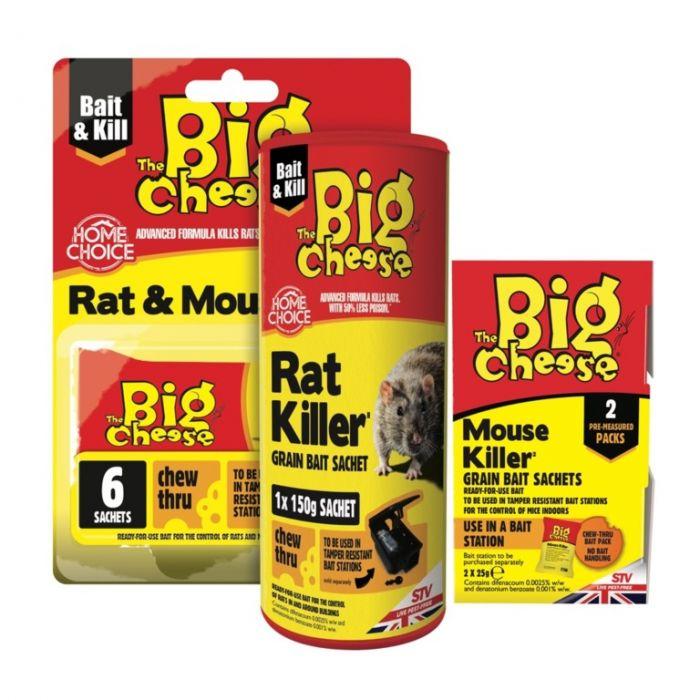 The Big Cheese Rat Killer Grain Bait Sachet