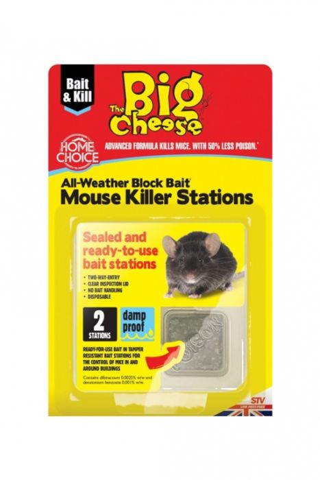 The Big Cheese Mouse Killer Stations Twin Pack