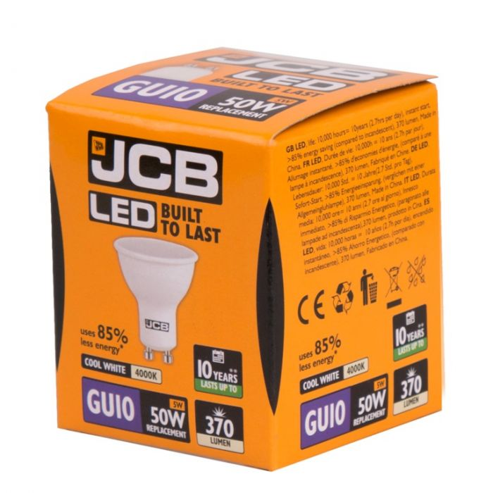 Jcb Led Gu10 5W Gu10 Boxed