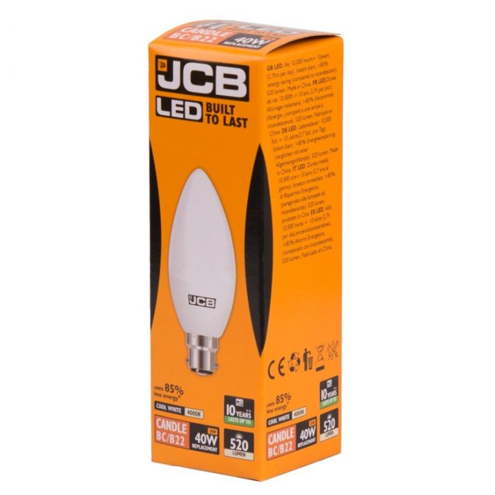 Jcb Led C37 6W B22 Boxed