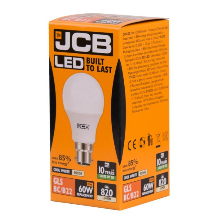 Jcb Led A70 10W B22 Boxed