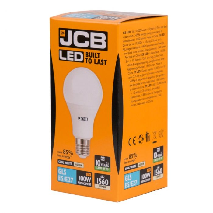 Jcb Led A70 15W E27 Boxed