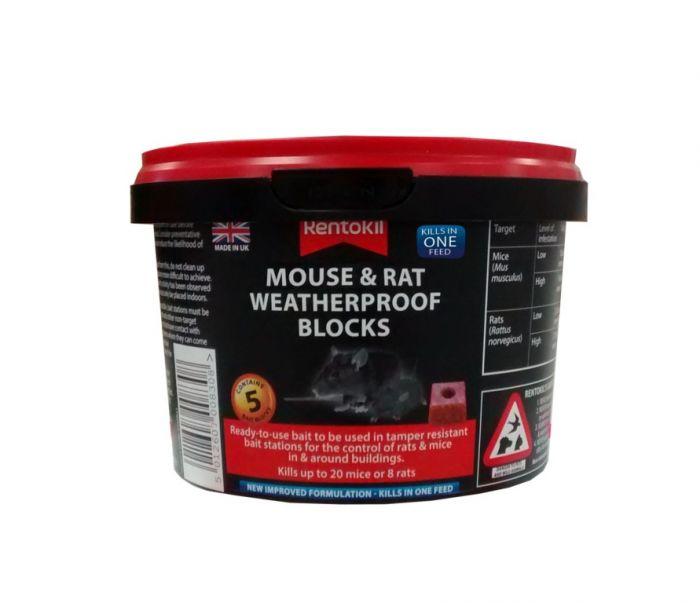 Rentokil Mouse & Rat Weatherproof Blocks Pack 5