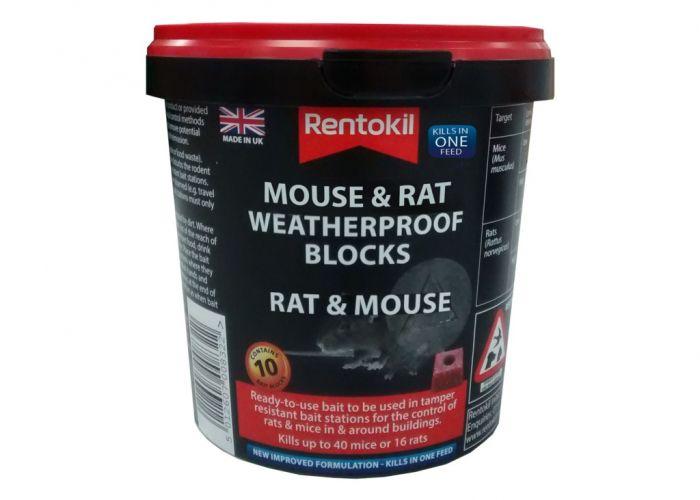 Rentokil Mouse Rat Weatherproof Blocks Pack 10