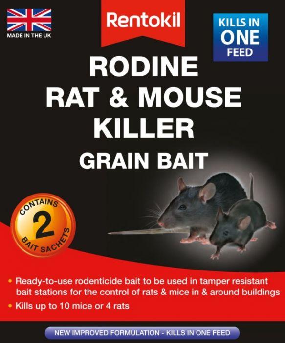 Rentokil Rodine Rat & Mouse Killer Grain Bait 2 Sachet