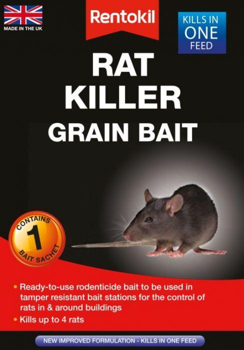 Rentokil Rat Killer Grain Bait Single Sachet