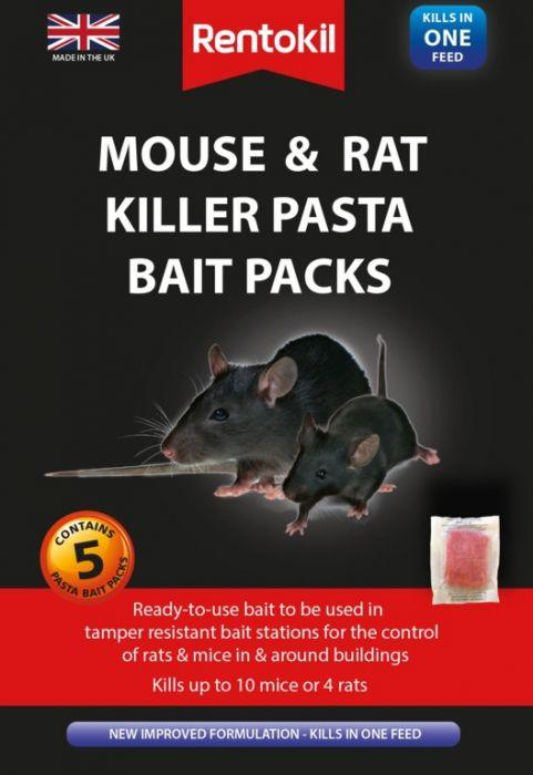 Rentokil Mouse & Rat Killer Pasta Bait 5 Sachet
