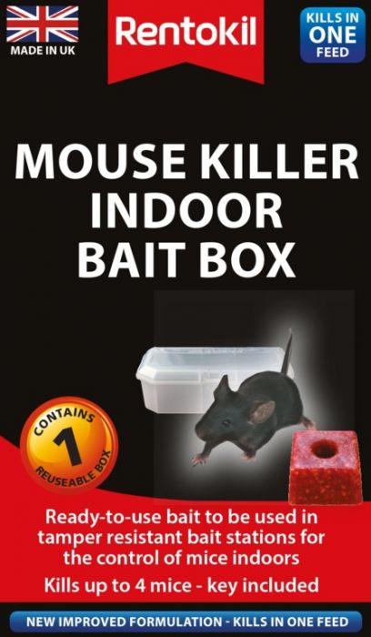 Rentokil Mouse Killer Indoor Bait Box Single