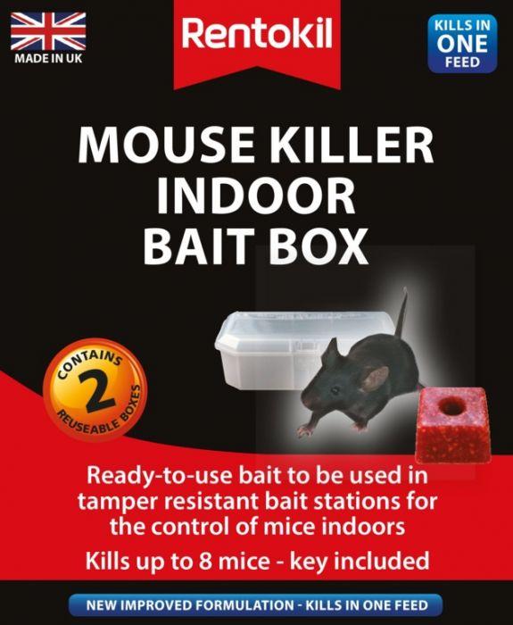 Rentokil Mouse Killer Indoor Bait Box Twin