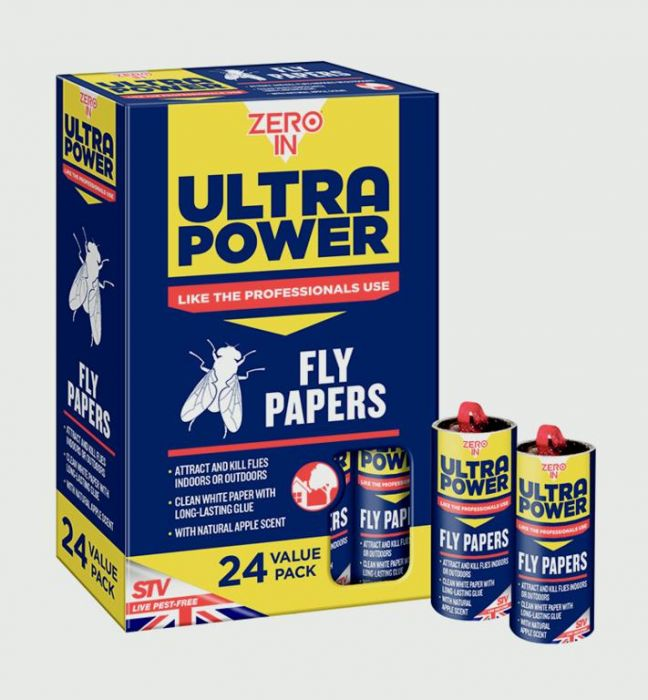 Zero In Fly Papers Pack 24