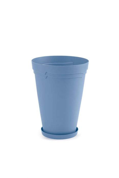 Boston Tall Round Self Watering Planter 34Cm Powder Blue