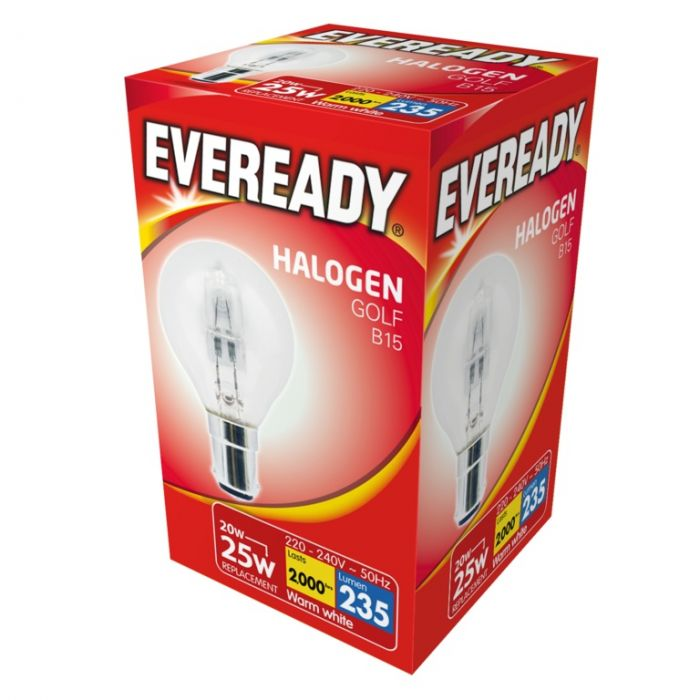 Eveready Eco Golf Bulb B15 Sbc 20W