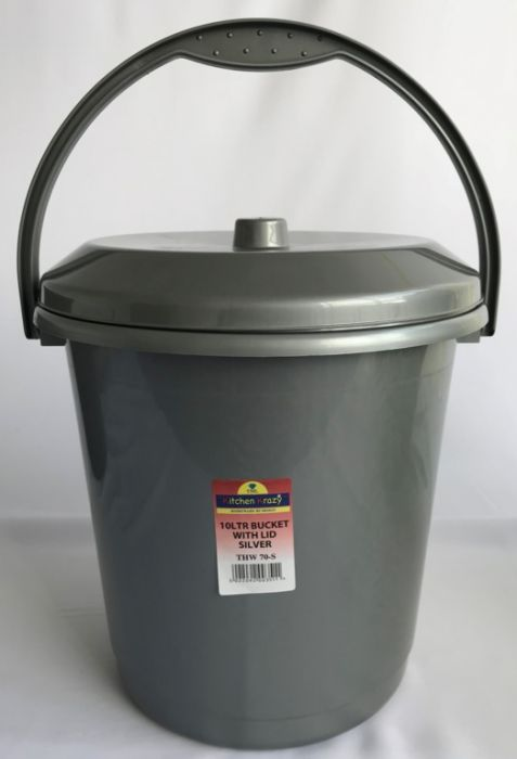 Tml Bucket With Lid 10L Silver