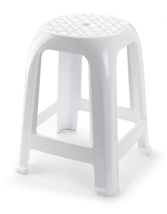 Plasticforte White Stool 38 X 33Cm