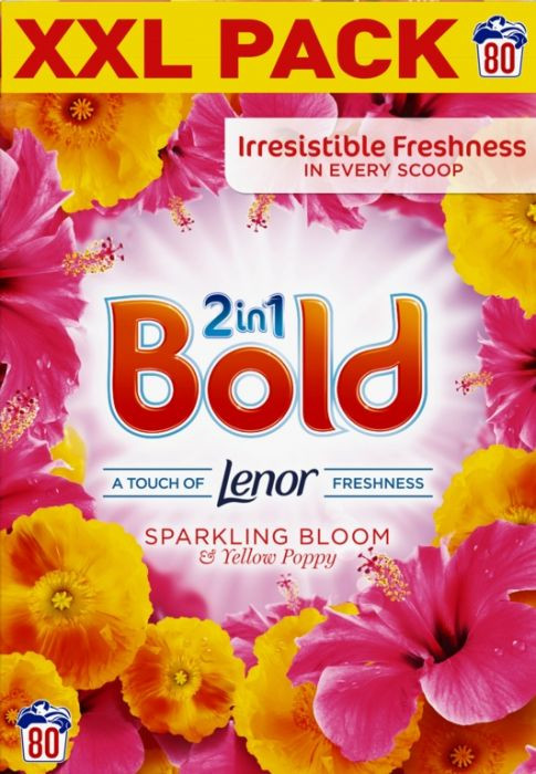 Bold Washing Powder 80 Wash Sparkling Bloom & Yellow Poppy