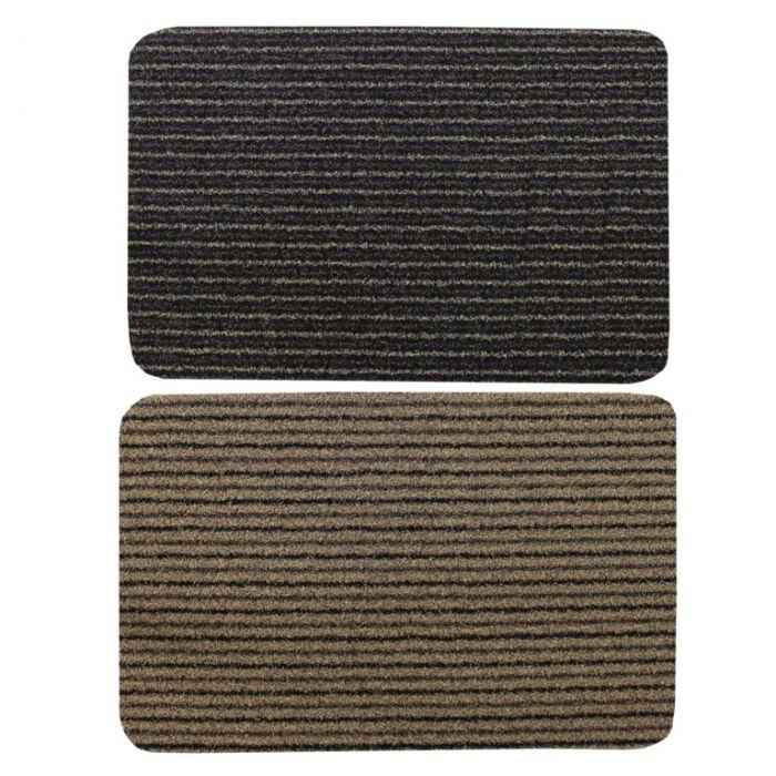 Jvl Infinity Scraper Mat 50X75cm Brown Stripe Or Beige Stripe