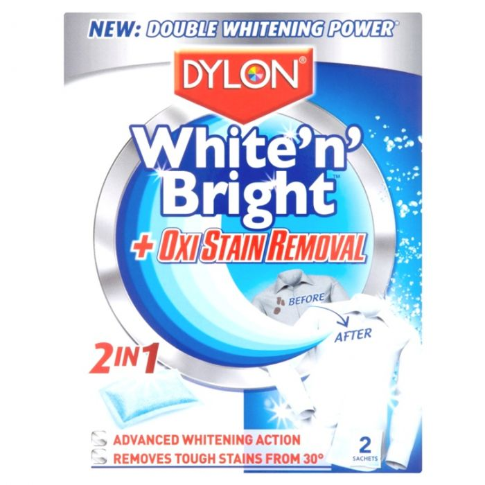Dylon White Bright Oxi 2 Sachet