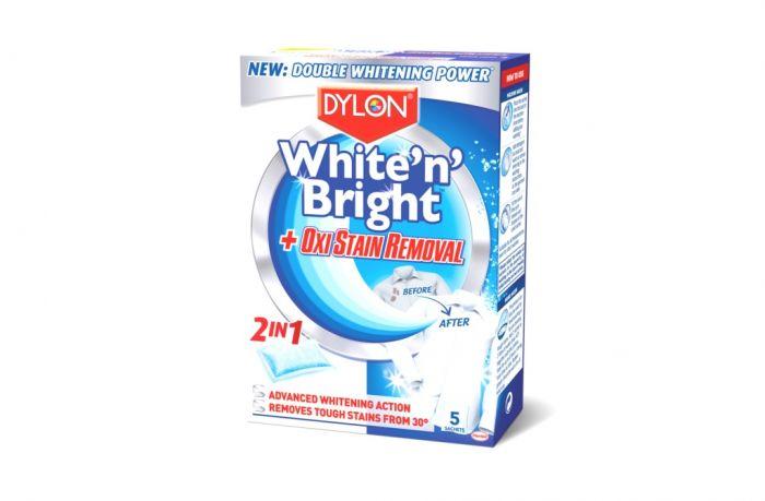 Dylon White N Bright Oxi Stain Remover 5 Sachet