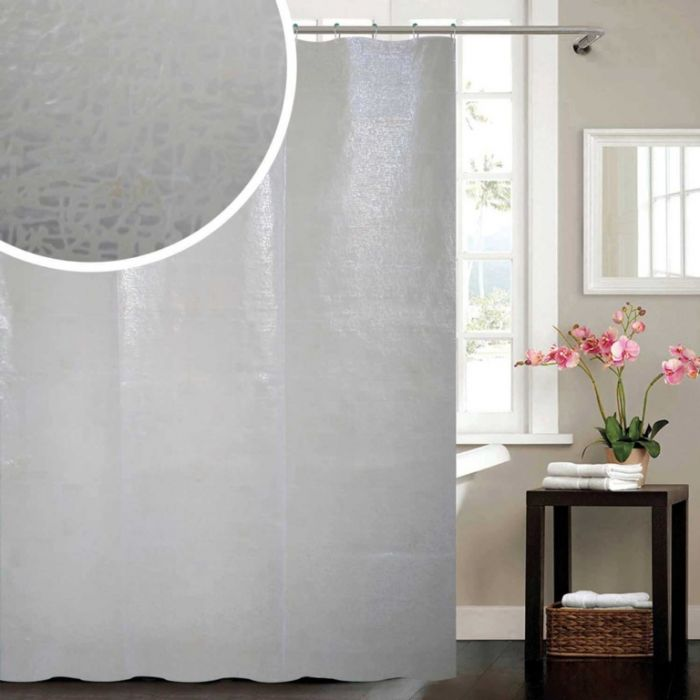 Blue Canyon Frosty Peva Shower Curtain