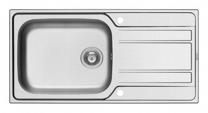 Pyramis Athena Stainless Steel Deep Bowl Inset Sink 1000 X 500Mm
