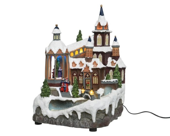 Led Fibre Optic Christmas Village
