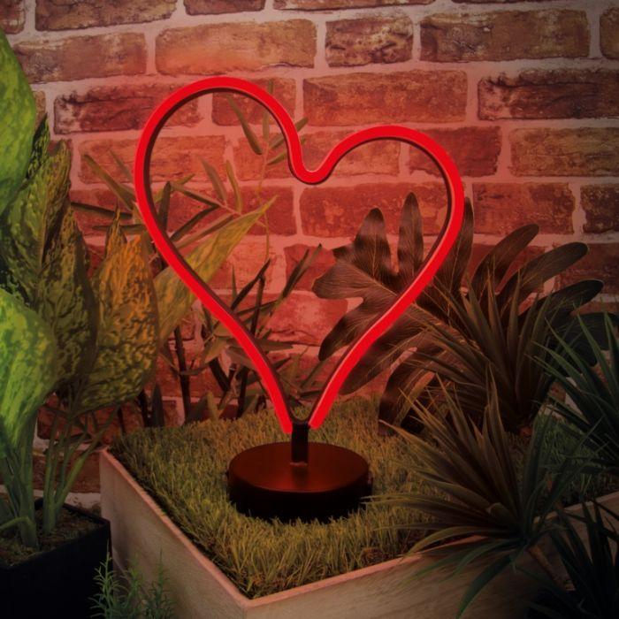 Global Gizmos 20Cm Led Neon Light Heart