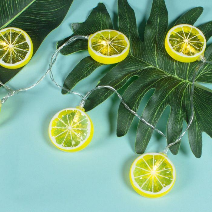 Global Gizmos Led String Lights - 10 Lemons