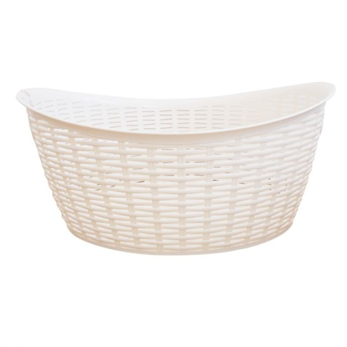 Anika Home 27L Rattan Washing Basket Cream