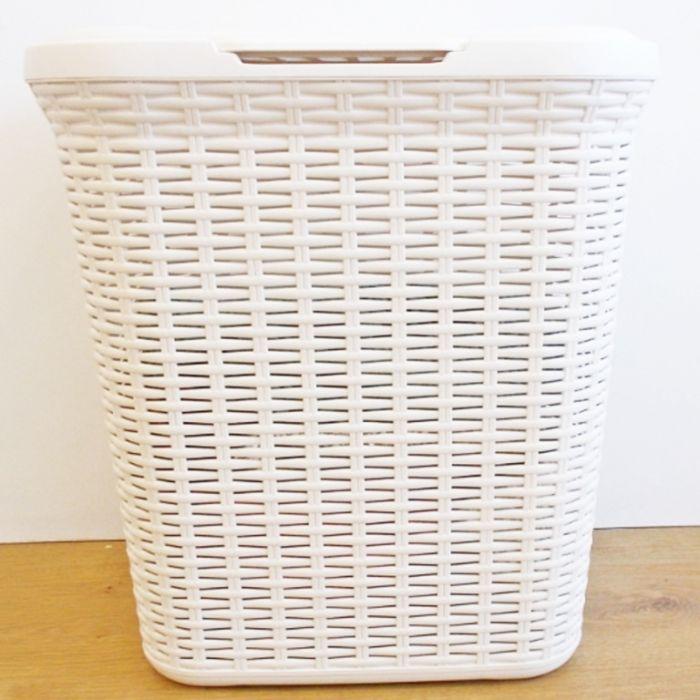 Anika Home 50L Rattan Laundry Basket Cream