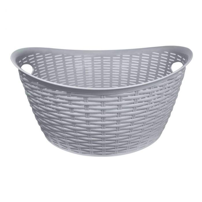 Anika Home 27L Rattan Washing Basket Grey