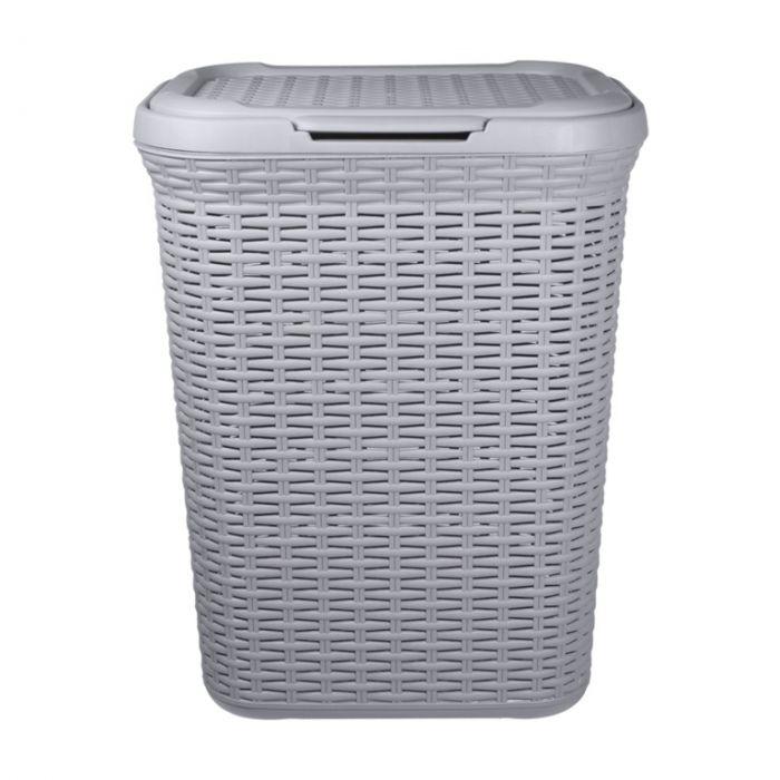 Anika Home 50L Rattan Laundry Basket Grey