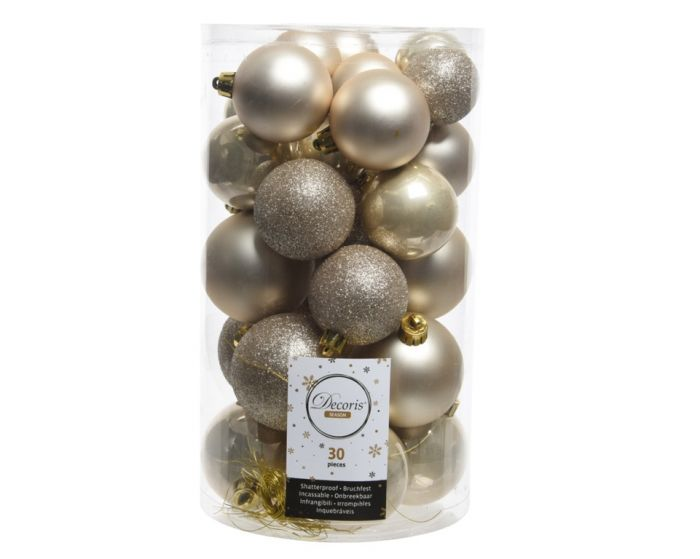 Shatterproof Baubles Mixed Tube Of 30