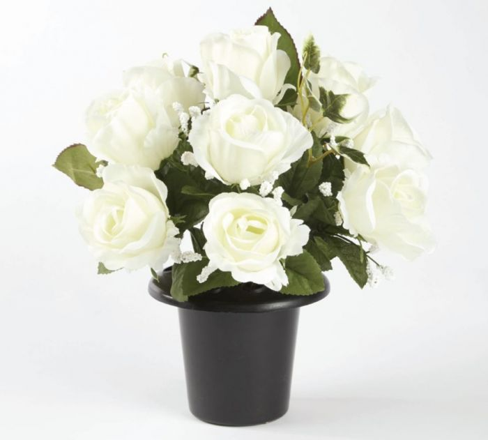 Smithers Oasis Grave Vase Container Black/White