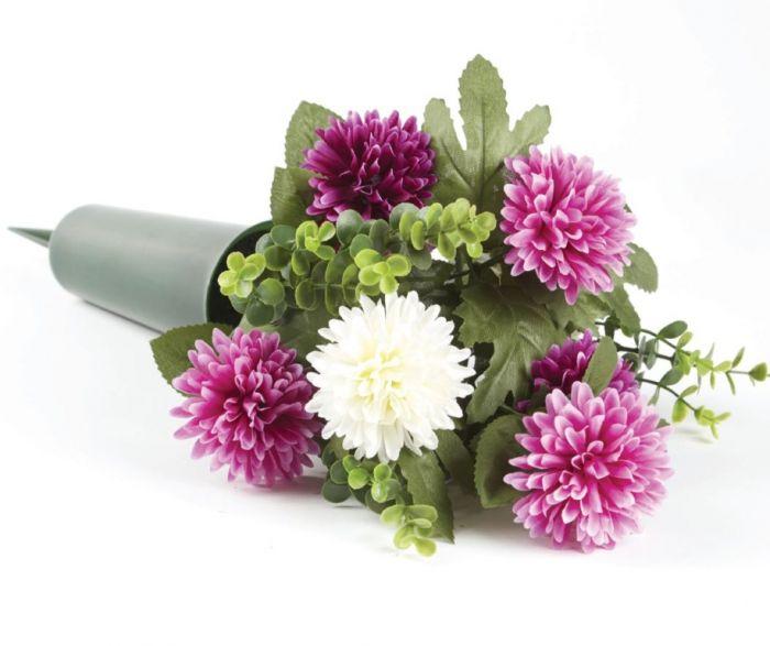 Smithers Oasis Grave Vase Spike Black/Purple/White
