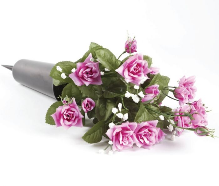 Smithers Oasis Grave Vase Spike Black/Pink/White