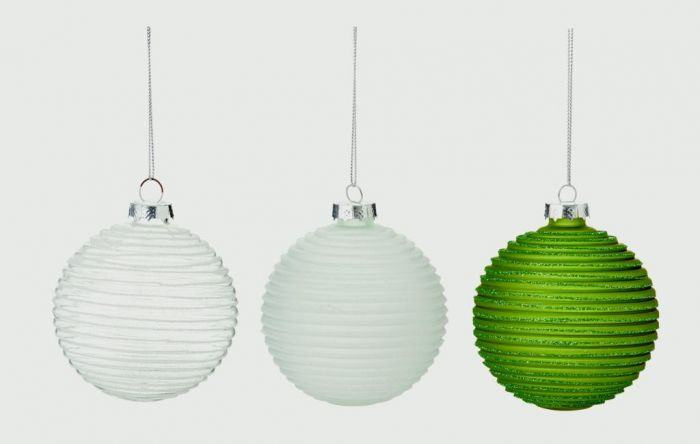 Sculpted Band Ball Green White