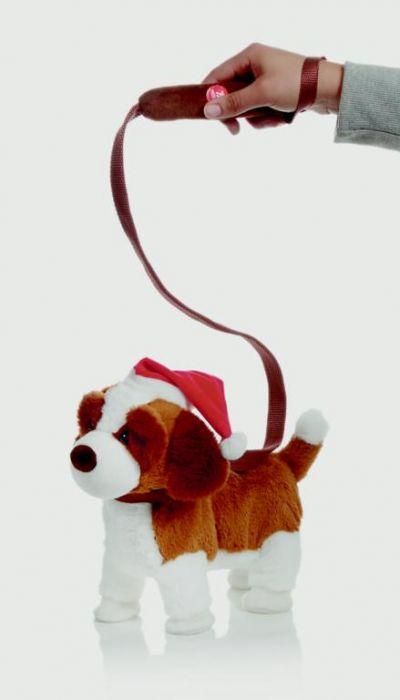 Musical Walking Dog With Santa Hat