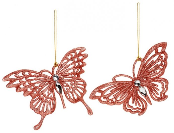 Rose Gold Butterfly Trim