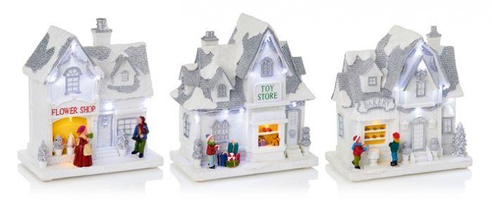 Lit White Christmas Shop