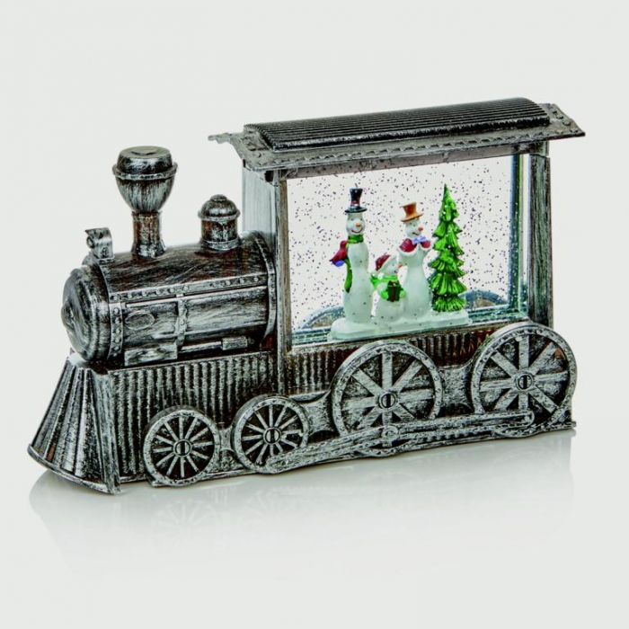 Silver Train Water Spinner White Led