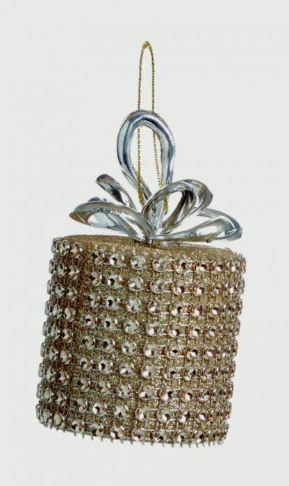 Gold Diamanted Round Parcel Trim