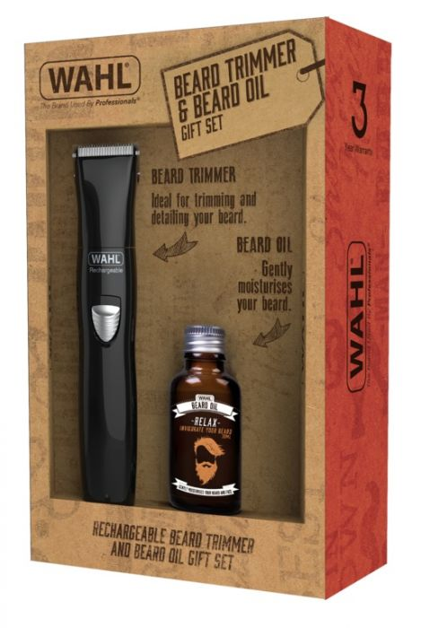Wahl Rechargeable Trimmer & Beard Oil Gift Set