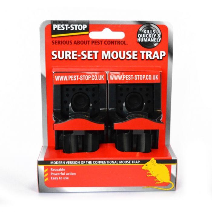 Pest-Stop Sure Set Plastic Mouse Traps Twin Pack