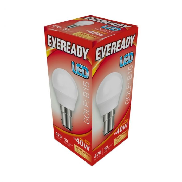 Eveready Led Golf 6W 470Lm Warm White 3000K B15
