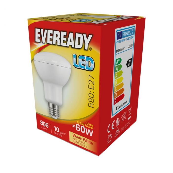 Eveready Led R80 10.5W 806Lm Warm White 3000K E27