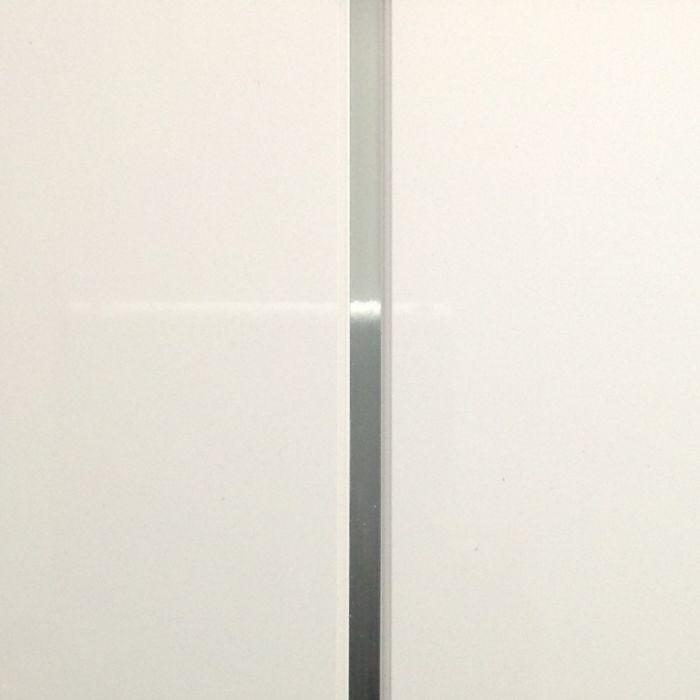 Giavani Bathrooms Ceiling Panel 2700 X 250 X 9.5Mm White & Chrome Pack 5