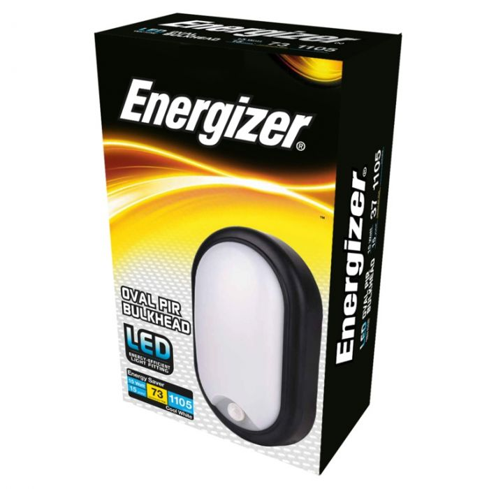 Energizer Led Pir Oval Bulkhead Ip54 15W 4000K