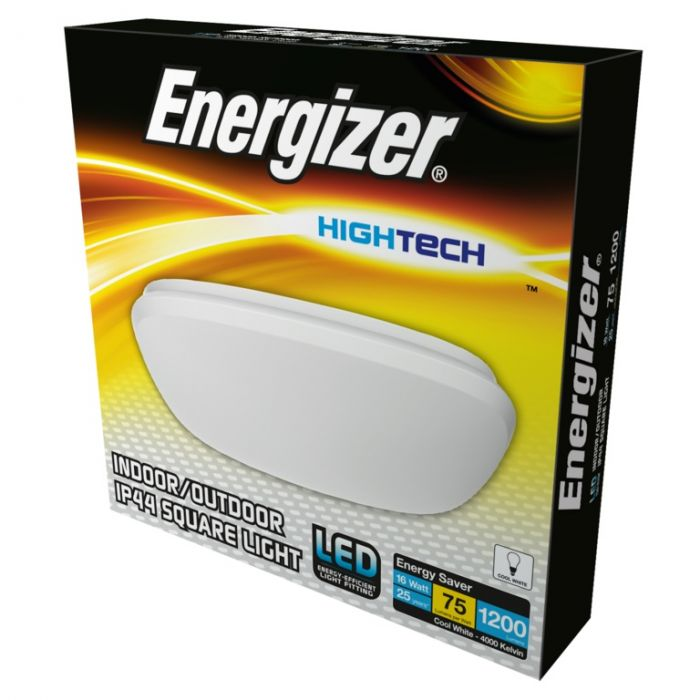 Energizer Led 300Mm Square Light Ip44 16W 4000K