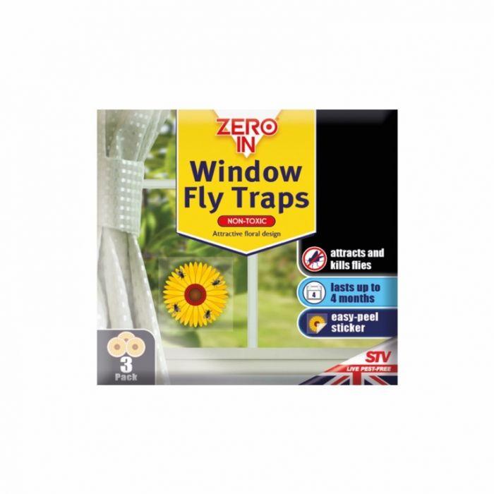 Zero In Window Fly Traps Pack 3
