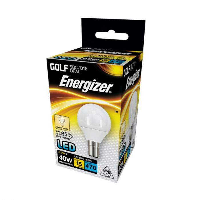 Energizer Led Golf 470Lm Opal B15 Warm White 2700K